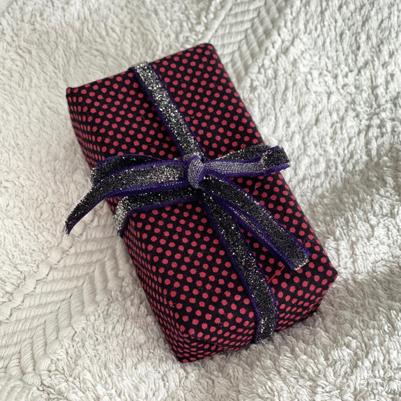 Lavender & Calendula Soap in Black Red Polka