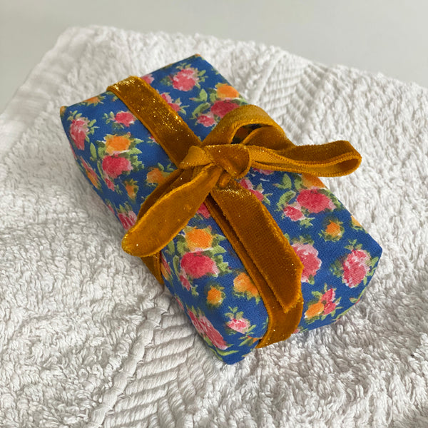 Neroli & Orange Soap in Blue Floral