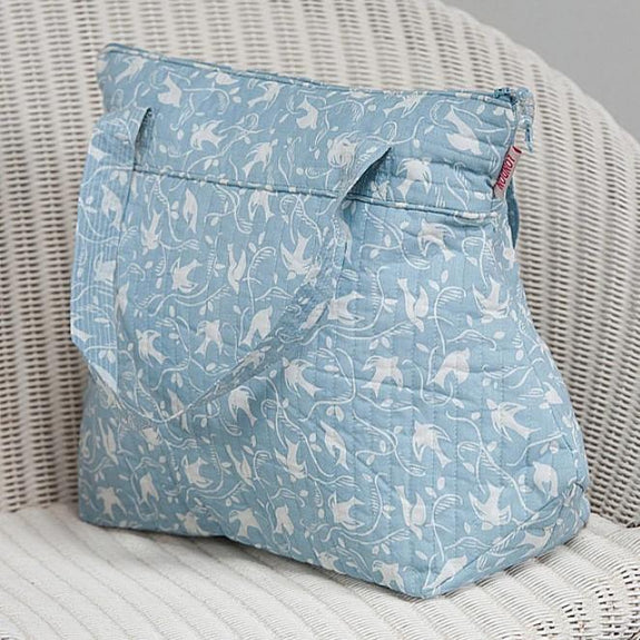 Blue Swallow Tall Washbag with handles