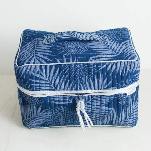 Navy Fern Vanity Washbag