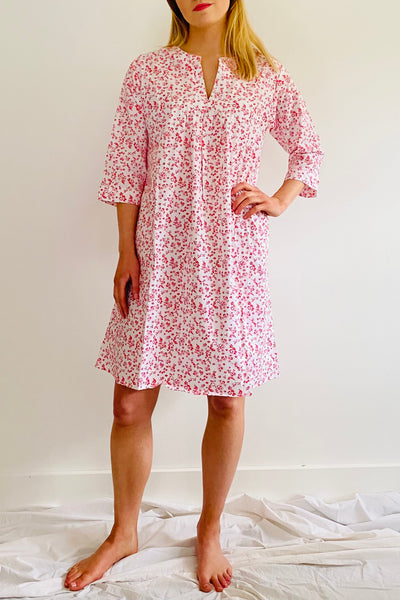 Red Ditzy Floral Florence Kaftan Nightie
