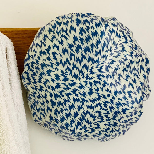 Blue Genevieve Shower Cap