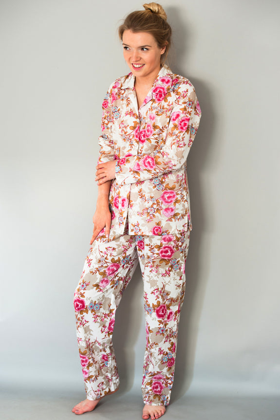 White Beautiful Classic Pyjama Set