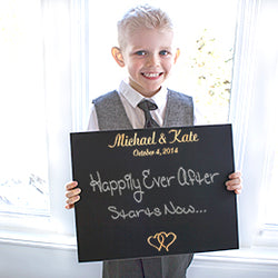 Custom Ring Bearer Wedding Chalkboard Sign