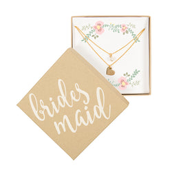 Wedding Party Double Chain Necklace - Gold