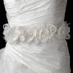 Wonderful White or Ivory Flower Bridal Strap