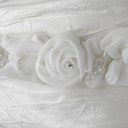 Lovely White or Ivory Flower Bridal Strap
