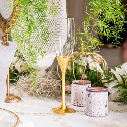 Gold Shimmer Wedding Champagne Flutes