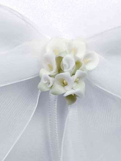 Calla Lily Bouquet Wedding Ring Bearer Pillow