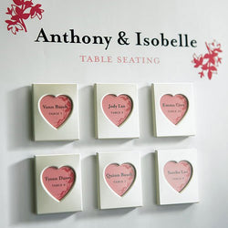 Mini Magnet Back Aluminum Heart Photo Frames (pkg of 3)