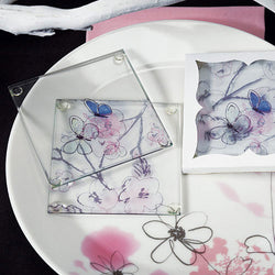 Artistic Botanical Coaster Set