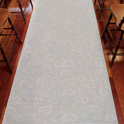 Aisle Runner - White With All Over Heart Design
