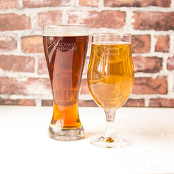 Custom His & Hers Pilsner Set
