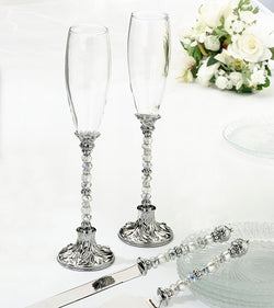 Beaded Toasting Glasses