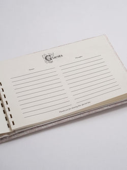 Bella Donna Guest Book - Champagne or Ivory
