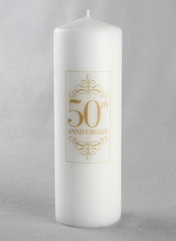 50th Anniversary Pillar Candle