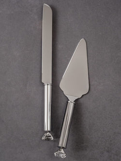 Diamond Handle Knife and Server Set