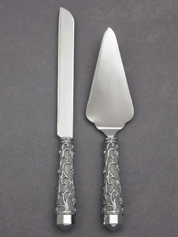 Elegant Vine Knife and Server Set