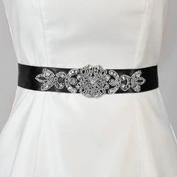 Adriana Bridal Sash - Black, White or Ivory