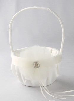 Chloe Flower Basket - White & Ivory