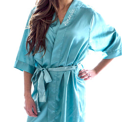 Personalized Satin Robe - Available in Multiple Colors