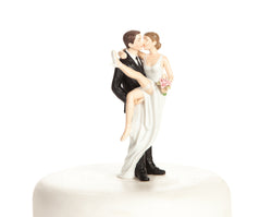 """Over the Threshold"" Wedding Bride and Groom Cake Topper Figurine"