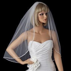 Bridal Wedding Single Layer Elbow Length Veil
