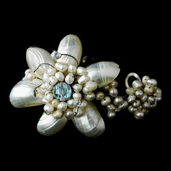 Beautiful Pearl & AB Floral Bracelet