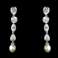 Breathtaking Cubic Zirconium & Pearl Drop Earrings