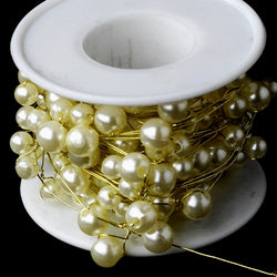 Bouquet Jewelry Gold Ivory Pearl Wire (26 Foot Long)