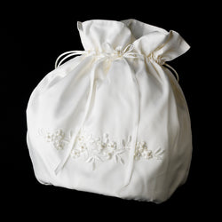 Bridal Money Bag - White