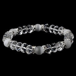 Bridal Bracelet - Clear White