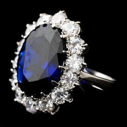 Royal Princess Kate Middleton Inspired Sapphire CZ Ring