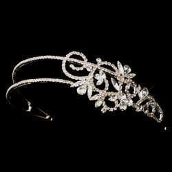 2 Row Crystal Side Accented Bridal Headband