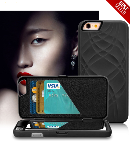Mirror Wallet Case For iphone