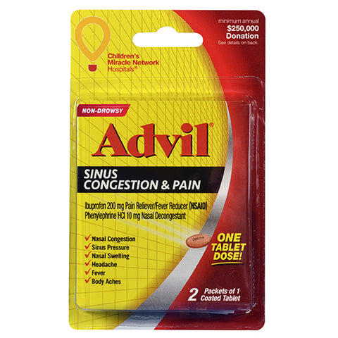 Advil Sinus Congestion and Pain Relief