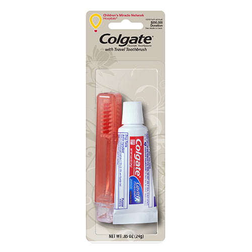 Colgate Toothpaste & Travel Toothbrush Combo