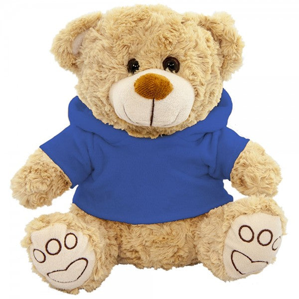 "10"" Plush Beige Bear With Customizable Hoodie"