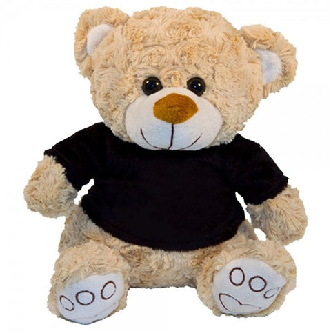 "10"" Plush Beige Bear With Customizable T-shirt"