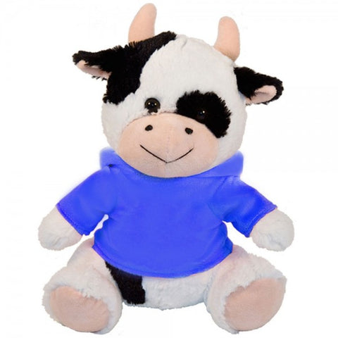 "10"" Plush Cow With Customizable Hoodie"