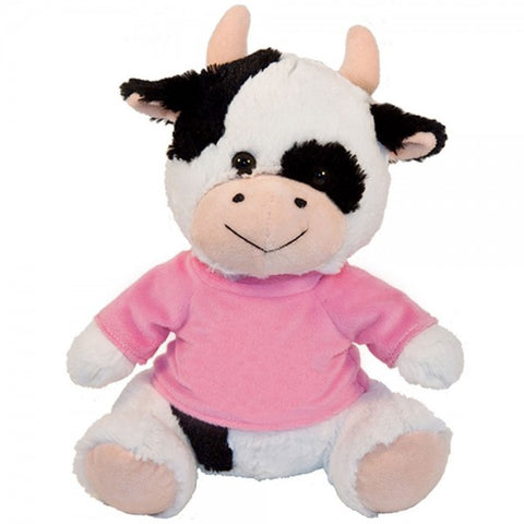 "10"" Plush Cow With Customizable T-Shirt"