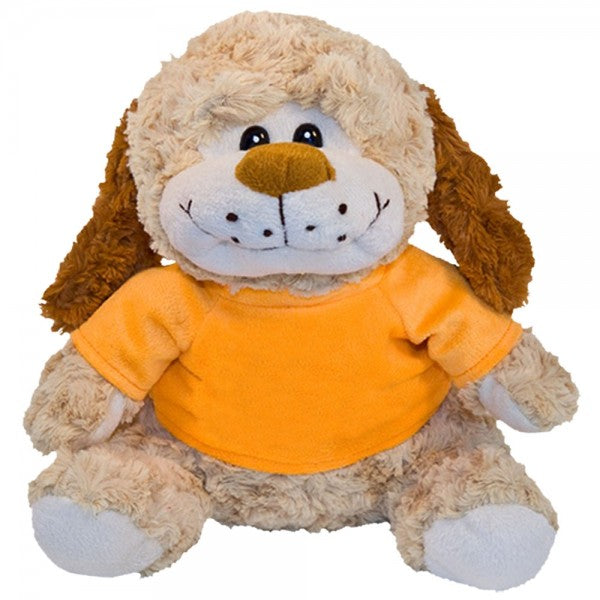 "10"" Plush Dog With Customizable T-Shirt"