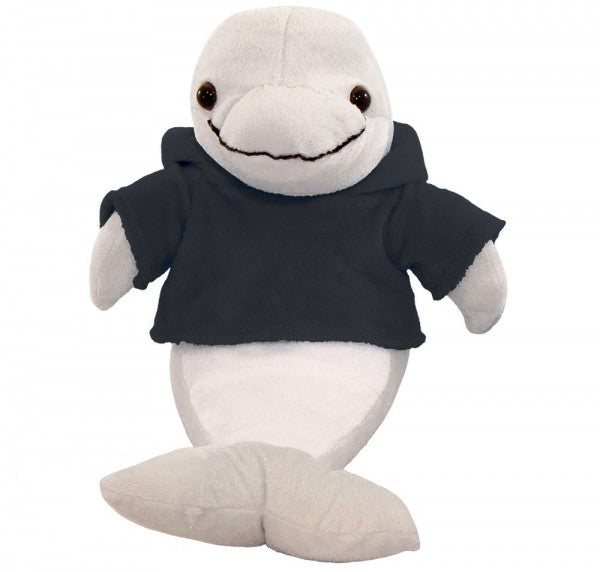 "10"" Plush Dolphin With Customizable Hoodie"