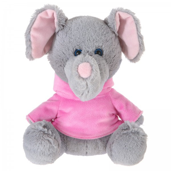 "10"" Plush Elephant With Customizable Hoodie"