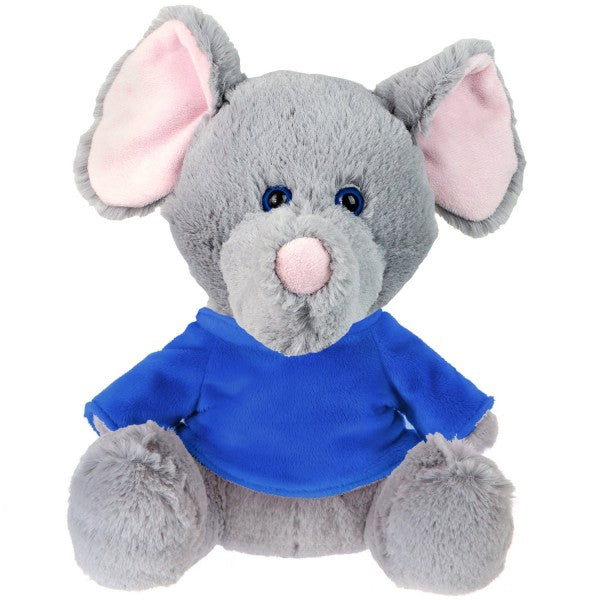 "10"" Plush Elephant With Customizable T-Shirt"