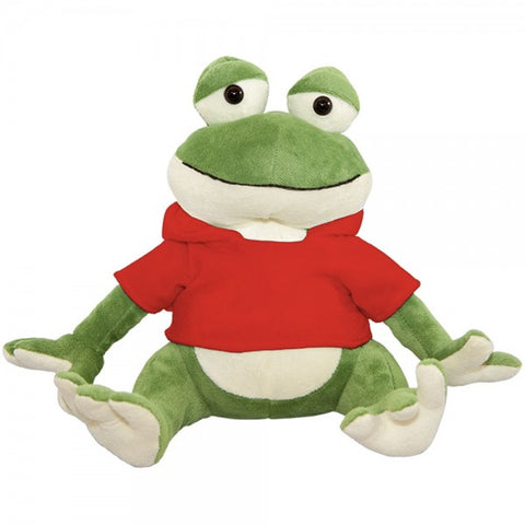 "10"" Plush Frog With Customizable Hoodie"