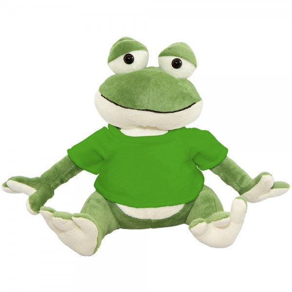 "10"" Plush Frog With Customizable T-Shirt"