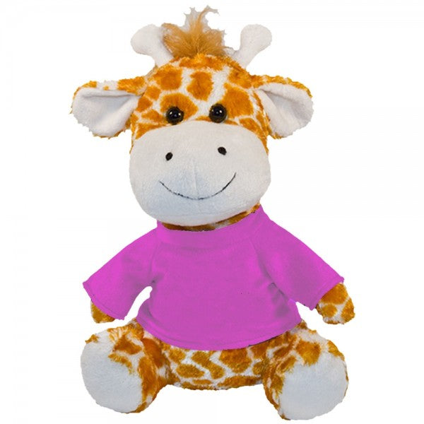 "10"" Plush Giraffe With Customizable T-Shirt"