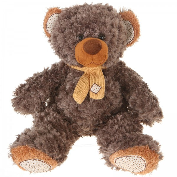 "10"" Plush Gray Brown Teddy Bear"