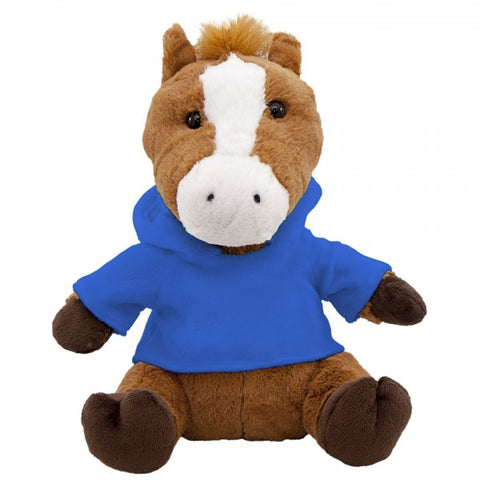 "10"" Plush Horse With Customizable Hoodie"